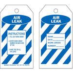 Air Leak Tag, 1. Fill Out Work Order 2. Enter Work Order Number On Back Side Of Tag 3