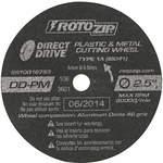 Abrasive Cut Wheel 2-1/2 Inch Diameter 0.750 Inch T Pk5