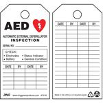 Aed Tag 5-3/4 x 3 Inch Black And Red/white - Pack Of 10