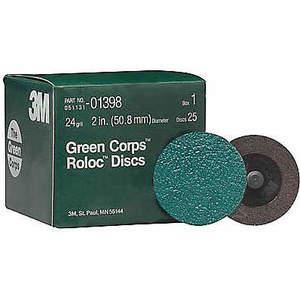 3M 01398 Disque de verrouillage Oxyde d'aluminium 2 pouces 24g Tr - Paquet de 250 | AB9CCQ 2BAG5