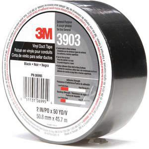 3M 3903 Cinta adhesiva para ductos 2 x 50 yardas 6.3 mil Vinilo negro | AA6ZFQ 15F770