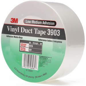 3M 3903 Cinta adhesiva para ductos 2 x 50 yardas 6.3 mil Vinilo blanco | AA6ZFW 15F775