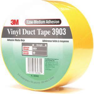 3M 3903 Cinta adhesiva para ductos 2 x 50 yardas 6.3 mil Vinilo amarillo | AA6ZFX 15F776