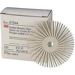 3M 24281 Radial Bristle Disc Ta 3 inch Diameter 120g - Pakke med 40 | AB9BPQ 2AXX6