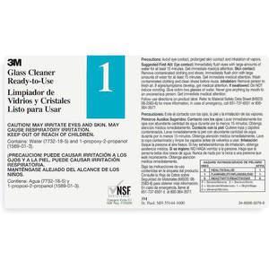 3M 340401 Etiqueta secundaria Negro Azul / blanco - Paquete de 12 | AA9CQX 1CJ98