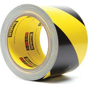 3M 5702 Markierungsbandrolle 3 Zoll W Schwarz / Gelb - Packung mit 12 Stück | AB9HQY 2DEE3