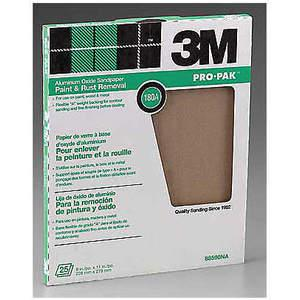 3M 88590 Hoja de lija de 11 x 9 pulgadas 180 G de óxido de aluminio - Paquete de 250   AB9JLB 2DJR6