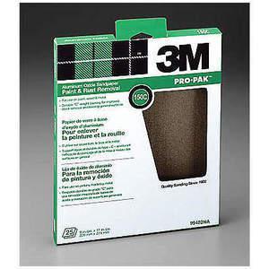 3M 99402 Hoja de lija 11 x 9 pulgadas 150 G Óxido de aluminio - Paquete de 250 | AB9JLA 2DJP5