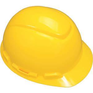 3M H-702V-UV hård hat med Uvicator ventileret 4pt skralde gul   AB6FRM 21E391
