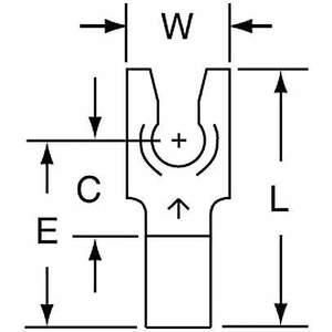Terminal à fourche 3M M14-6FLK nue 16 à 14 AWG - paquet de 1000 | AB9KXA 2DRR1