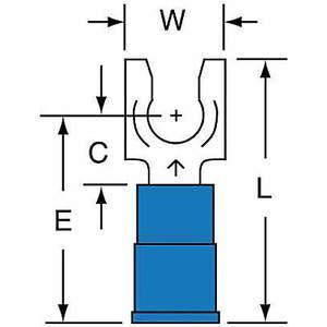 Terminal de fourche 3M MNG14-10FLK bleu 16 à 14 AWG - paquet de 1000 | AB9KWL 2DRL7