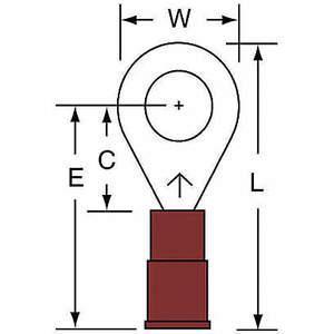 3M MNG18-14R / SK Ring Terminal Rouge Brasé 22 à 18 - Paquet De 1000 | AB9KVN 2DRH4