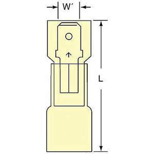 3M MNHU10-250DMIK Male Disconnect Jaune 12 à 10awg - Paquet de 250 | AB9KTH 2DPV7