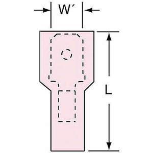3M MNU18-250DMIK Male Disconnect Red 22 à 18 Awg - Paquet de 1000 | AB9KVA 2DRF1
