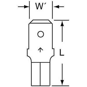 3M MU10-250DMK Male Disconnect Bare 12 à 10 Awg - Paquet de 500 | AB9KUC 2DRA2