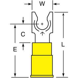 3M MV10-14FLX Gabelklemme Gelb 12 bis 10 Awg - Packung mit 50 Stück | AA8TMM 1A089