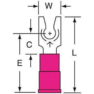 3M MV18-6FLK Zacisk widełkowy czerwony od 22 do 18 Awg - opakowanie 1000 sztuk | AB9KRH 2DPR8