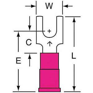 3M MV18-8FBK Zacisk widełkowy czerwony od 22 do 18 Awg - opakowanie 1000 sztuk | AB9KRF 2DPR4