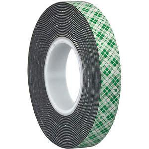 3M 4052 Double Coated Tape 1/2 x 5 yard Black | AA6VJE 15C168