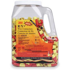 Złącze przewodu kielichowego 3M R / Y + czerwony / żółty - 500 sztuk | AA9JXU 1DLZ5