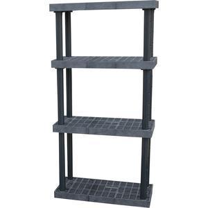 ADD-A-LEVEL AS3616X4調節可能なプラスチック棚、36 x 16 x 72、グリッドトップ、黒| AG8EPG