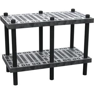 ADD-A-LEVEL AW4824調整可能ワークベンチ、48 L x 24 W、グリッドトップ| AG8EQH