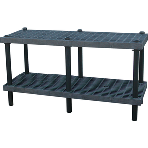 ADD-A-LEVEL AW6624 Adjustable Workbench, 66 L x 24 W, Grid Top   AG8EQK