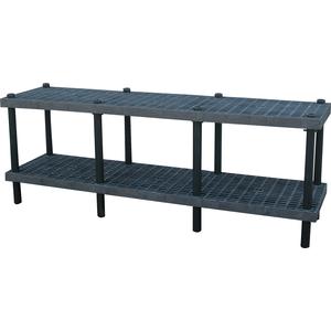 ADD-A-LEVEL AW9624 Adjustable Workbench, 96 L x 24 W, Grid Top   AG8EQM