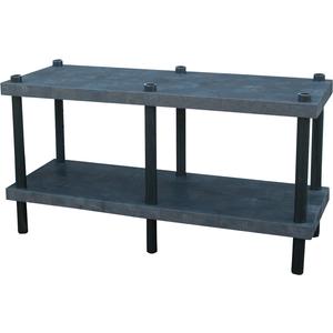 ADD-A-LEVEL AWT6624 Adjustable Workbench, 66 L x 24 W, Solid Top | AG8EQL