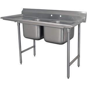 ADVANCE TABCO Fregadero de lavadero 9-1-24-24L con piso de tabla de drenaje izquierdo | AF3QGG 8AW53