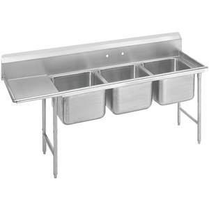 ADVANCE TABCO Fregadero de lavadero 9-3-54-24L con piso de tabla de drenaje izquierdo   AF4RVY 9HV22