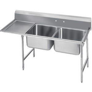 ADVANCE TABCO 9-42-48-24L Fregadero de lavadero con piso de tabla de drenaje izquierdo | AF4HAQ 8WU54