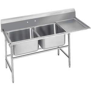ADVANCE TABCO 9-42-48-24R Fregadero de lavadero con piso de tabla de drenaje derecho   AF4WYH 9NLD6