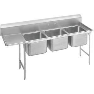 ADVANCE TABCO 9-43-72-24L Fregadero de lavadero con piso de tabla de drenaje izquierdo   AF4RVZ 9HV23
