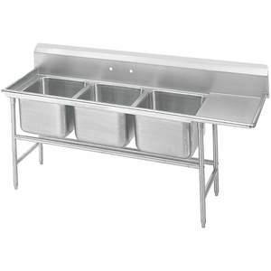 ADVANCE TABCO 9-43-72-24R Fregadero de cocina con piso de tabla de drenaje derecho   AF6BQN 9W869