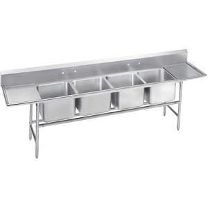 ADVANCE TABCO 9-44-96-24RL Fregadero de cocina con escurridores de 154 pulgadas de largo | AF4QYX 9GD12