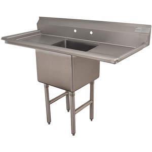ADVANCE TABCO FC-1-1818-18RL-X Fregadero para lavadero sin grifo 54 pulgadas de largo | AA3TAA 11U362