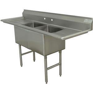 ADVANCE TABCO FC-2-1818-18RL-X Fregadero de cocina sin grifo 72 pulgadas de largo | AA3TAJ 11U370