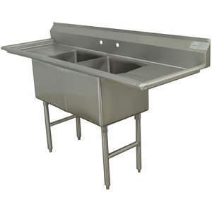 ADVANCE TABCO FC-2-2424-24RLX Fregadero de cocina sin grifo 96 pulgadas de largo   AA3TAN 11U374