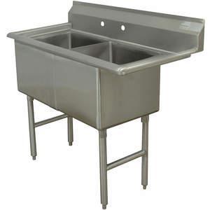 ADVANCE TABCO Fregadero de cocina sin grifo FC-2-2424-X de 53 pulgadas de largo | AA3TAK 11U371