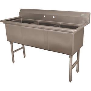 ADVANCE TABCO Fregadero de cocina sin grifo FC-3-1818-X de 59 pulgadas de largo | AA3TAQ 11U376