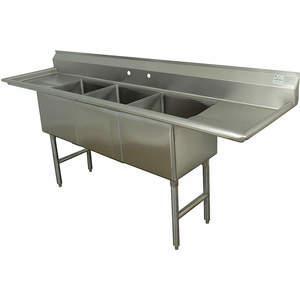 ADVANCE TABCO FC-3-2424-24RLX Fregadero de lavadero sin grifo 120 pulgadas de largo | AA3TAX 11U382