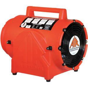 AIR SYSTEMS INTERNATIONAL CVF-8AC 밀폐 공간 팬, 축, 주황색 플라스틱, 1/3 HP, 115VAC, 60Hz, 8 인치   AA6YRG 15E886