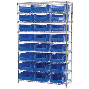 AKRO-MILS AWS184830280B Bin Shelving Wire 48 x 18 24 Bins Blue | AA2ABG 10A054