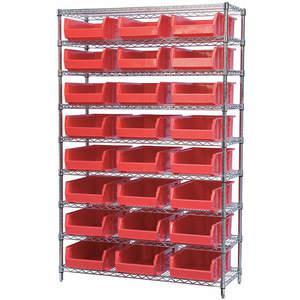 AKRO-MILS AWS184830280R Bin Shelving Wire 48 x 18 24 Bins Red | AA2ABF 10A053