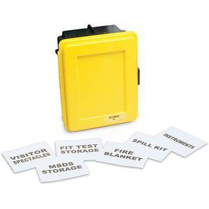 ALLEGRO 4400-Yラベルキットと1つの棚が付いた一般的な黄色の壁ケース、小さい| AG8EZH
