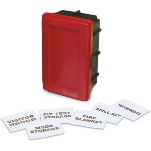 ALLEGRO 4500-Rラベルキットと1つの棚付きの一般的な赤い壁ケース、中| AG8EZL