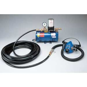 ALLEGRO 9215-01ワンワーカーハーフマスクシステム、100フィートエアラインホース  AF3XYE 8EUR7