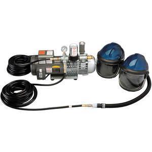 ALLEGRO 9247-02付属のエアシールド/ヘルメットシステム、7人の作業員がサービスを提供| AF23ZGA 36UAXNUMX