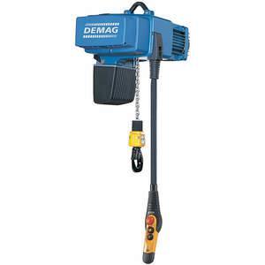 DEMAG DCS Pro 10-1000 1/1 H8 VS6-11 480/60 elektromos láncos emelő 2200 Lb. 26 láb | AC6JBD 34A040